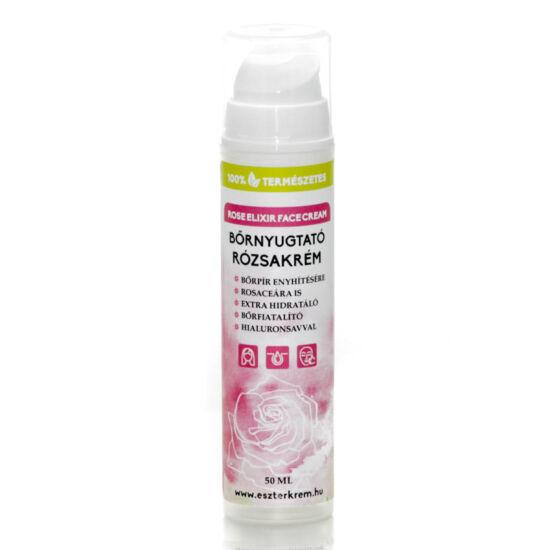 Bőrnyugtató rózsakrém (rosaceás bőrre is)