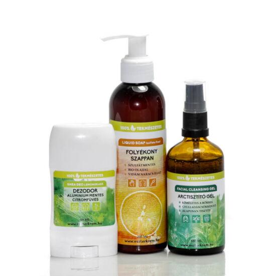 Tisztaság, fél egészség bio kozmetikum csomag